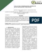 Informe de Conservación de La Matería
