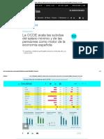 La OCDE Avala Las Subidas Del Salario Mínimo y de Las Pensiones Como Motor de La Economía Española _ Economía _ Cinco Días