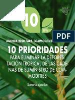 Agenda 2020 Para Commodities y Bosques