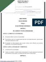Código Civil del Estado Plurinacional de Bolivia