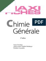 Maxi Fiches de Chimie Générale - 2e Édition - 83 Fiches _ 83 Fiches - Yann Verchier & Anne-Laure Valette Delahaye & Frédéric Lemaître - Dunod - Mai, 2011