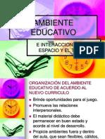 3 Ambiente Educativo-espacio y Tiempo