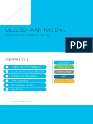 Test Drive Sdwan Cisco Systems Cloud Computing