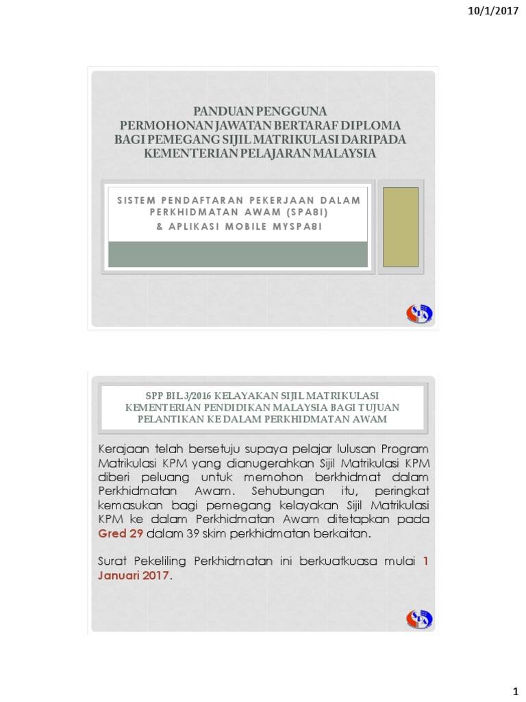 Sistem Pendaftaran Pekerjaan Dalam Perkhidmatan Awam Spa8i Aplikasi Mobile Myspa8i