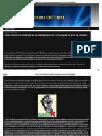 LITIGIO CRÍTICO_ Cómo Iniciar Un Sindicato en La Empresa (Sin Que El Burgués Te Gane La Partida)