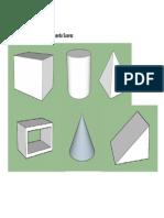 Práctica piezas geométricas - SketchUP