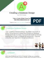 Creating a Database Design