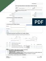 Nuevo Formulario Solicitud de Factibilidad ADA