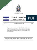 Gaceta No. 23 Reglamento de Forma de Culminacion de Estudos