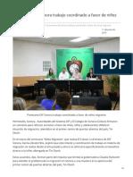 11-06-2019 - Promueve DIF Sonora trabajo coordinado a favor de niñez migrante - Opinionsonora.com