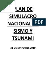 Plan de Simulacro de Sismo Y tsunami