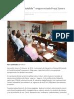 11-06-2019 - Instalan Comité Estatal de Transparencia de Prepa Sonora 2019 - Termometroenlinea.com.mx