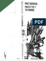 Protagoras - Fragmentos y Testimonios
