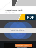 Actos de Desorganización (Final)
