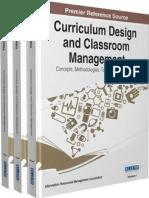 Curriculum design and Classroom Management