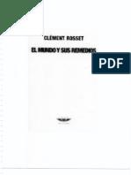 Clement Rosset - El Mundo y Sus Remedios