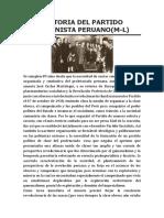 Historia Del Partido Comunista Peruano