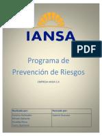 Programa de Prevencion de Riesgos Iansa