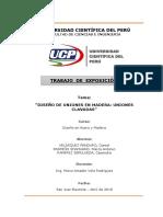 Uniones Clavadas en Madera