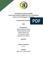Proyecto Investigacion Operativa