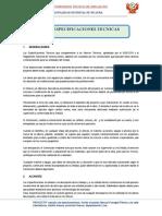 ESPECIFICACIONES TECNICAS  FUMAGALI