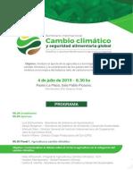 Seminario Internacional Cambio Climático y Seguridad Alimentaria - Programa