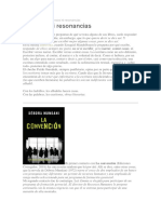 """Sin Ecos Ni Resonancias- Reseña de """"La convención"""" de Débora Mudani"""