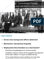 Class Advantage Commitment Penalty Lauren Rivera (Kellogg) András Tilcsik (Toronto) The Gendered Effect of Social Class Signals in an Elite Labor Market