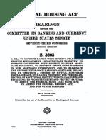 1934, Senate Hearings - National Housing Act