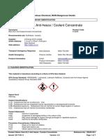 Delo ELC Anti Freeze Coolant Concentrate SDS