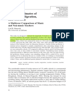 Hancock (2009) National Estimates of Retention, Migration, And Attrition a Multiyear Comparison of Music and Non-music Teachers