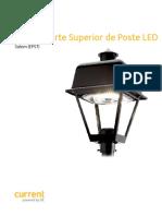 Hoja de Datos Luminaria LED Evolve Parte Superior Poste Salem EPST La Es (1)