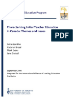 Gambhir, M., Broad, K., Evans, M., & Gaskell, J. (2008). Characterizing Initial Teacher Education in Canada - Themes and Issues