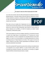 Comunicado Un Nuevo Tiempo Bachelet