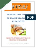 Daydas Manual Manipulador de Alimentos New