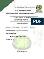 Informe Reactor Batch Adiabatico