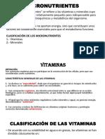 Micronutrientes Vitaminas Expos