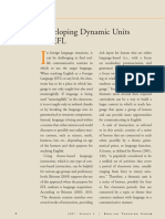Developing Dynamic Units for Efl