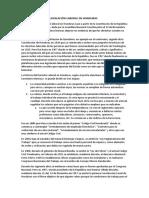 Antecedentes de La Legislación Laboral en Honduras
