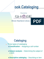 Book Cataloging for Handouts