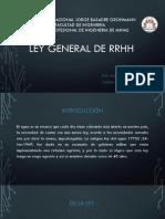 Ley General de RRHH