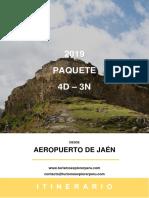 Paquete 4d3n Desde Jaén 2019
