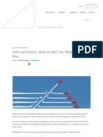 Inbound Sales_ How to Sell the Way Prospects Buy