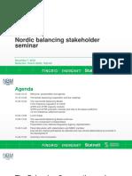 Nordic Balancing Stakeholder Seminar November 7