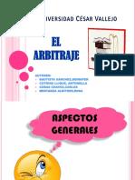 Diapositivas sobre el arbitraje