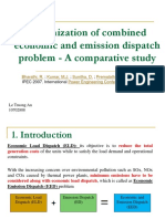 Optimization of Combined Economic and Emission Dispatch Problem a Comparative Study-10702808