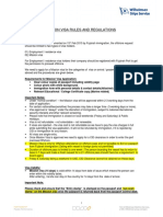 Mission Visa Rules and Regulations