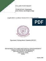 CSE Syllabus Booklet 4 Yr BTech Updated 18072016