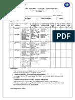 Evaluacion Sumativa Lenguaje 2015