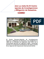 Informe Sobre La Visita de El Centro Peruano de La Cruz